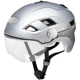 KED B-Vis X-Lite casco per bici argento